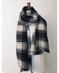 Etsy Plaid Blanket Sca - Black