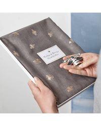 Etsy Metallic Bee Scarf & Magnetic Brooch - Grey
