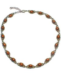 Etsy - Vintage Gold Tone & Faux Amber 16 Inch Necklace With Lobster Claw Clasp - Lyst