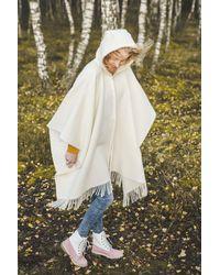 Etsy Tricot À Capuchon Shawl Wrap Pour s Fringe Tricoté Poncho Cardigan Cape Top Sweater 130x190 cm - Multicolore