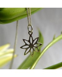 Etsy - Lotus Blossom Pendant In Stainless Steel - Lyst