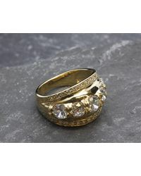 Etsy Thick Gold Band - Metallic