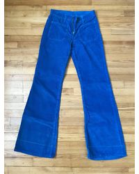 Etsy Jean Levis Vintage Cords Rare Flared Pattes D'eph 1970 Bellbottom Retro Corduroy - Bleu