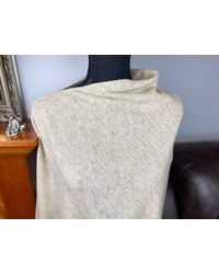 Etsy Pure Cashmere Ponch - Natural
