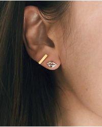 Etsy Lip Earrings - Metallic