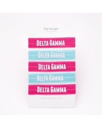 Etsy Delta Gamma Sorority Elastic Hair Ties - White