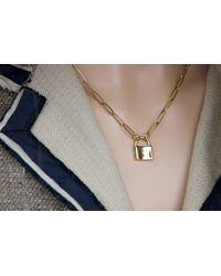 Etsy - Lock Necklace - Lyst