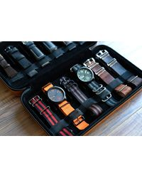 Etsy Compact Travel Watch Band Case - Brown