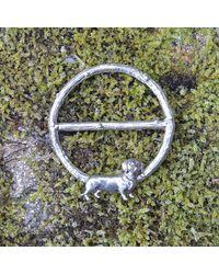 Etsy Dachshund Scarf Ring - Green