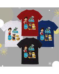 Etsy T-Shirt Enfant Personnalisé Pat'patrouille Avec Âge & Prénom Idéal Pour Un Anniversaire - Gris