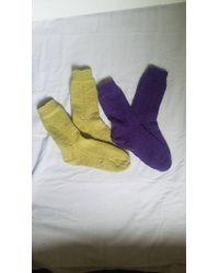 Etsy Basic Knit Socks-handmade Knitwear-knit Socks For Home & Outdoors-handmade Items Any Season - Multicolour