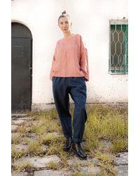 Etsy Harem Linen Pants Celeste/Pantalons Linge Drop Crotch Pantalon Japonais En - Blanc