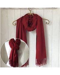 Etsy - Burgundy Wool Pashmina/shawl Wrap/ Woollen Wedding Wedding - Lyst
