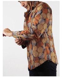 Etsy Chemise Marron Colorée En Voile De Coton Imprimé Vintage