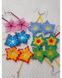 Etsy Read The Announcement Flower Earrings Handmade May Spring Refreshment Gift For - Multicolor