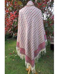 Etsy Vintage Fine Wool Paisley Shawl Block Printed Vibrant Costume Piece To Wear Home Decor 1800's Crinoline English - Multicolour