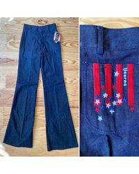 Etsy Jeans Pattes D'éléphant Vintage 70S En Denim Épais - Bleu