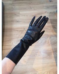 Etsy Vintage Black Long Leather Gloves