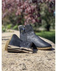 Etsy Bottines Boots En Cuir Noir Et Imprimé Zèbre À L'arrière Confortables Stylées Zèbre Pour L'hive - Blanc