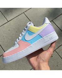 Etsy All Over Pastel Nike Air Force 1 - Bleu