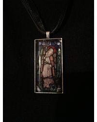 Etsy Saint Michael Pendant - Black