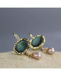 Etsy Solid Gold Earrings - Metallic