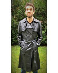 Etsy Veste De Luxe Zilli Long Leather Jacket Black Graphite Motocycle s Trench Coat - Noir