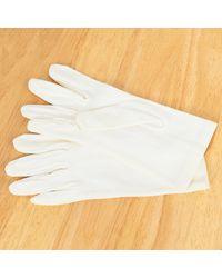 Etsy White Fabric Nylon Satin Elastic Gloves