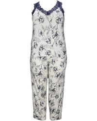 Evans Multicolour Strappy Floral Pyjama Set - Black