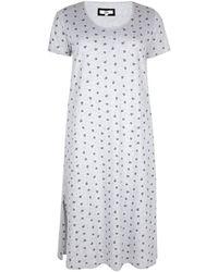 Evans Grey Floral Print Nightdress