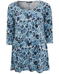 Evans Blue Camouflage Print Swing Tunic