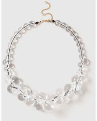 Evans Clear Ball Collar - White