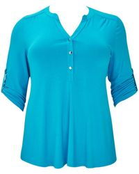 Evans - Turquoise Shirt - Lyst