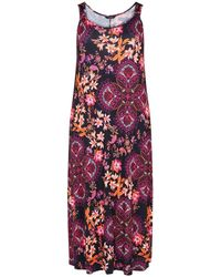 c4614d2e61c Y.A.S Multi-coloured Floral Stripe Print  crystal  Short Sleeve Maxi ...