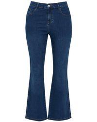 Evans - Curve Midwash Straight Leg Jeans - Lyst