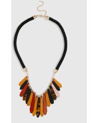 Evans Brown Piano Collar Necklace