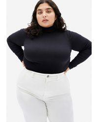 Everlane Pima Micro-rib Turtleneck Sweater - Black