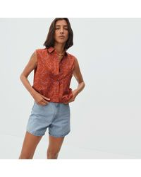 Everlane Silky Cotton Cropped Cut-off Shirt - Multicolour