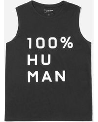 Everlane - The 100% Human Muscle Tank In Large Print - Lyst