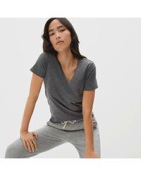 Everlane Organic Cotton V-neck T-shirt - Grey