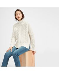 Everlane | The Oversized Cable Turtleneck | Lyst