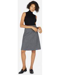 Everlane - The Premium Wool Flared Skirt - Lyst