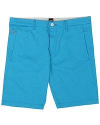 BOSS Green Liem Slim Fit Shorts - Blue