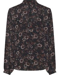 Tommy Hilfiger Amia Popover Floral Blouse - Blue