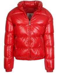 Pyrenex Vintage Mythik Quilted Puffa Coat - Red