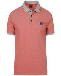 BOSS Orange Pedrive Polo Shirt - Red