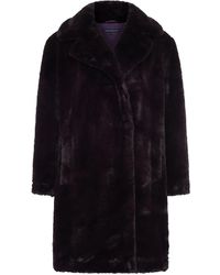 French Connection Banna Faux Fur Coat - Purple