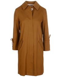 BOSS Orange - Oflash Peached Cotton Twill Coat - Lyst