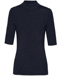 HUGO Shoundyna Short Sleeve Knitted Top - Black