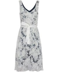 Almost Famous Floral Flared Skirt Occasion Dress - Black